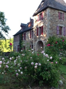 Image of rose garden at the Chateau de Bellefond